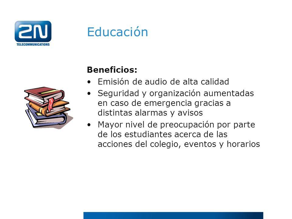 Educación Beneficios: Emisión de audio de alta calidad