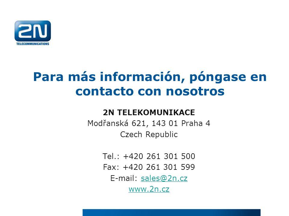 Para más información, póngase en contacto con nosotros