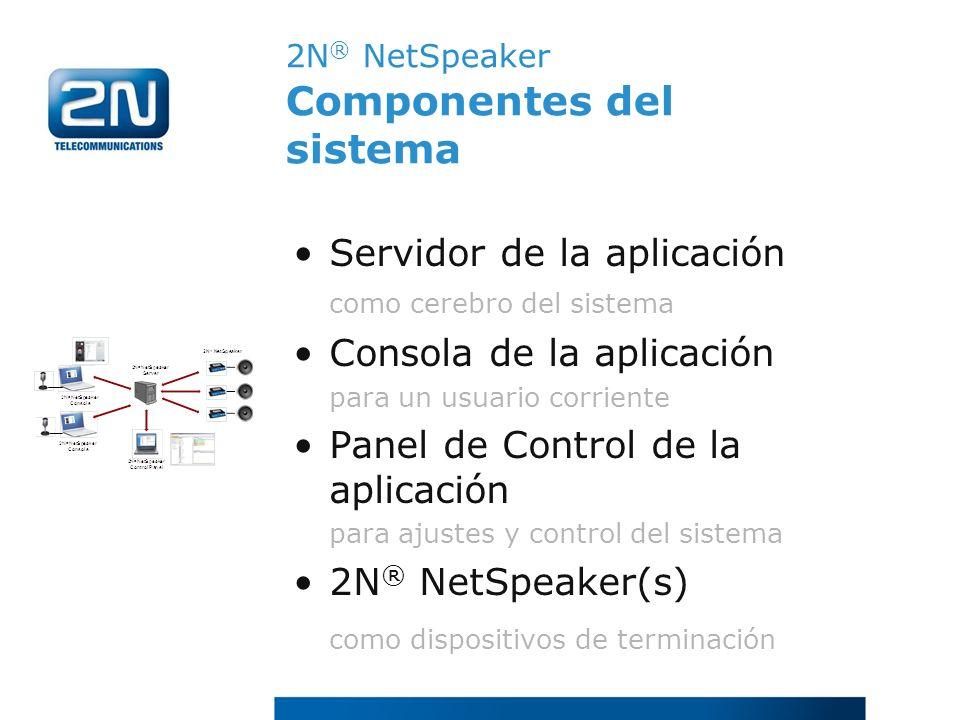 2N® NetSpeaker Componentes del sistema