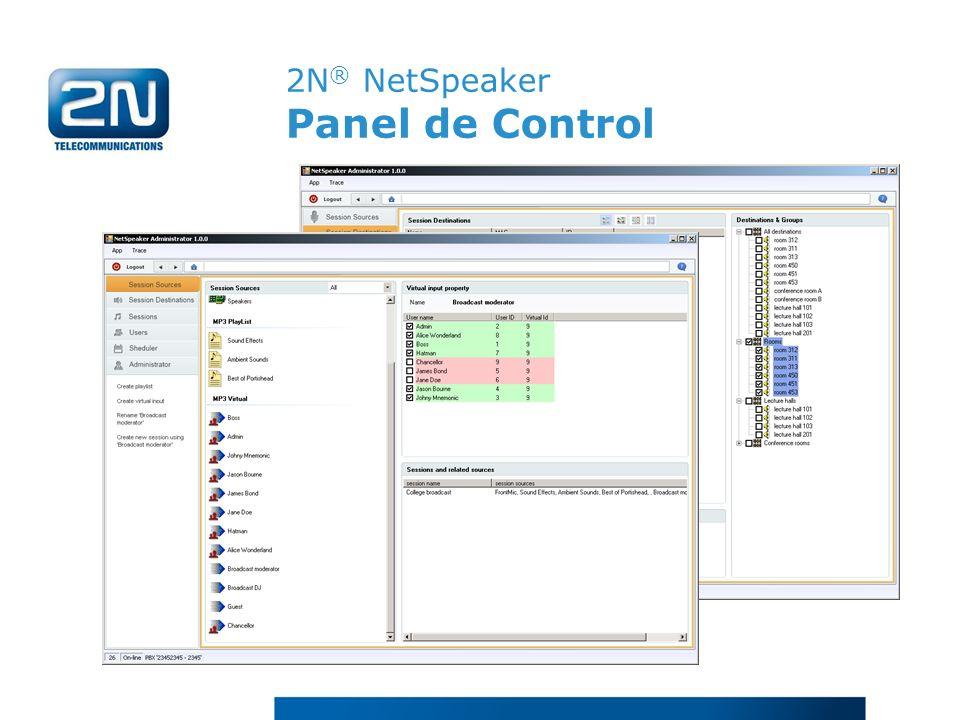 2N® NetSpeaker Panel de Control