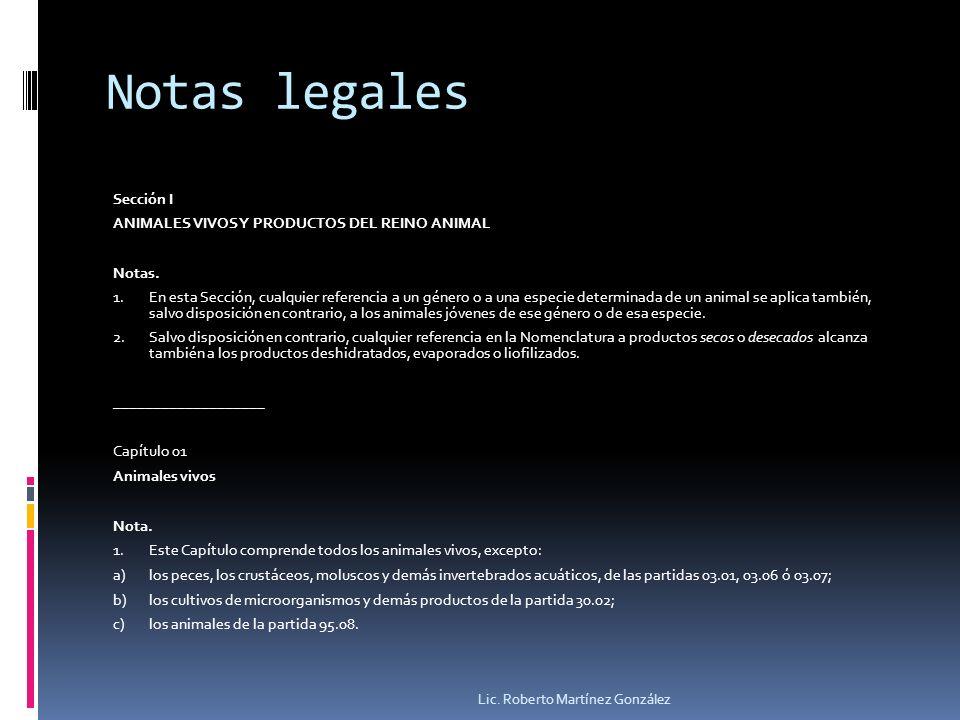 Notas legales