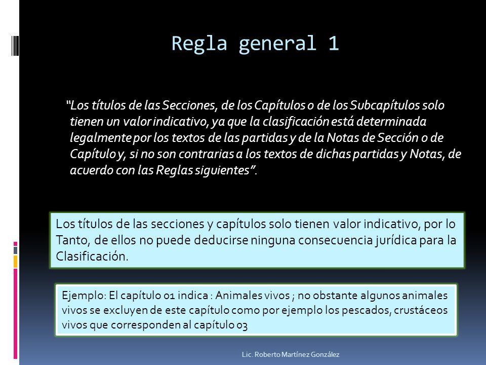 Regla general 1