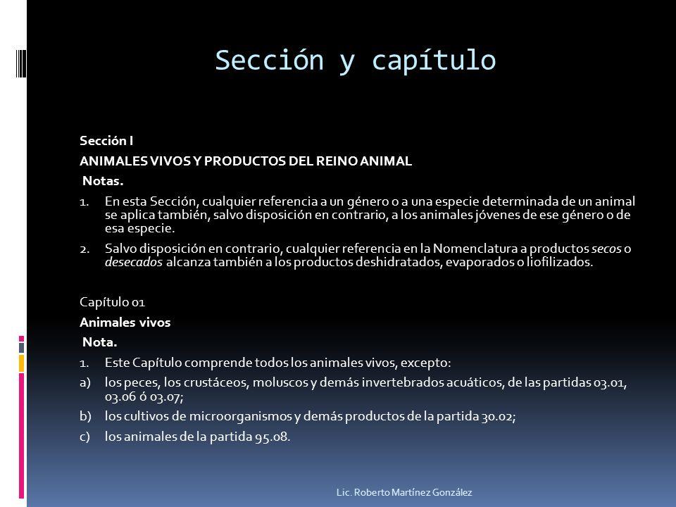 Sección y capítulo