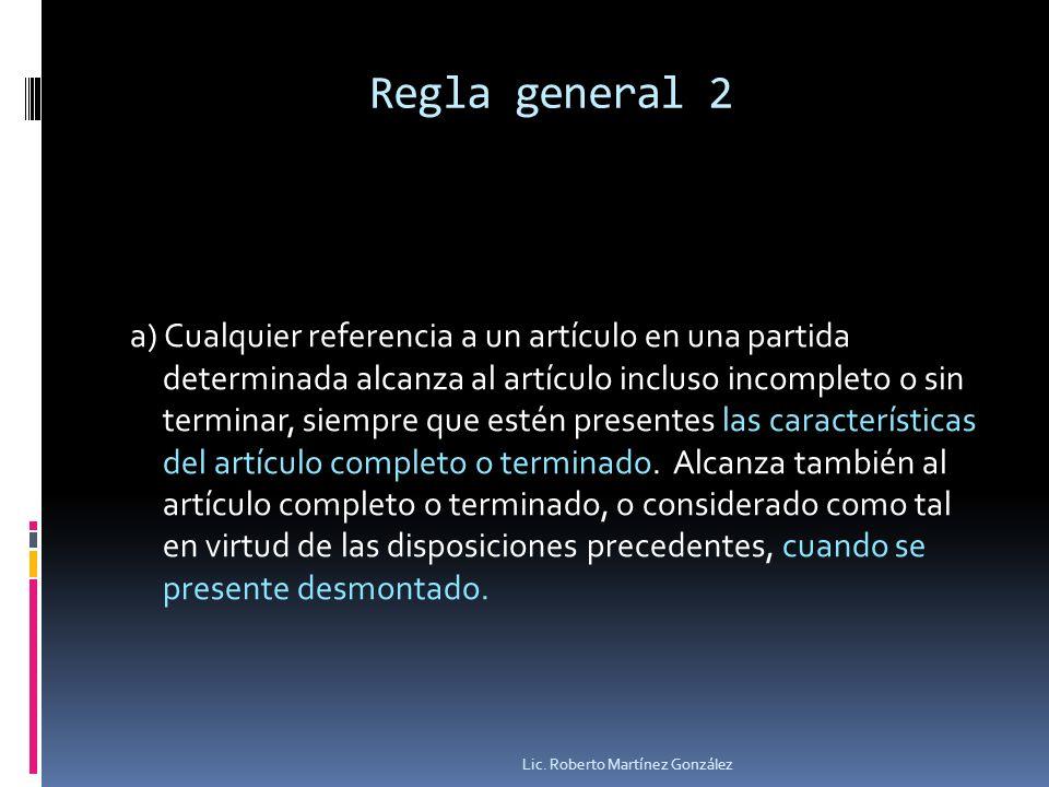 Regla general 2