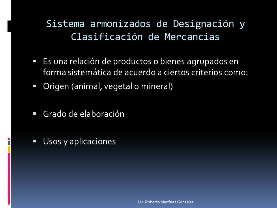 Sistema armonizados de Designación y Clasificación de Mercancías
