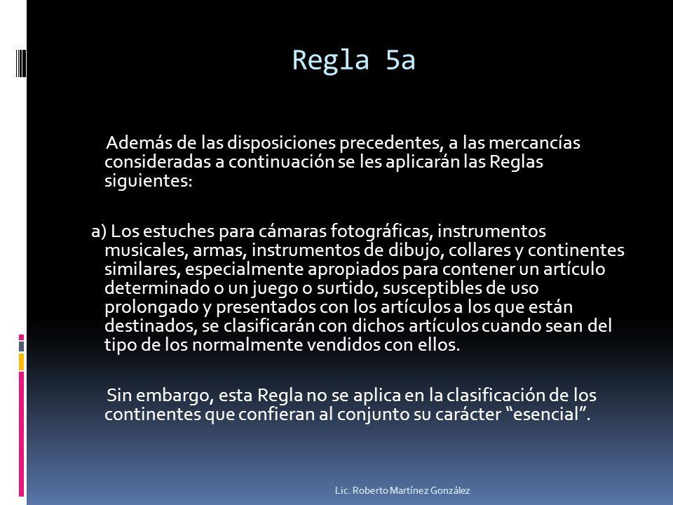Regla 5a