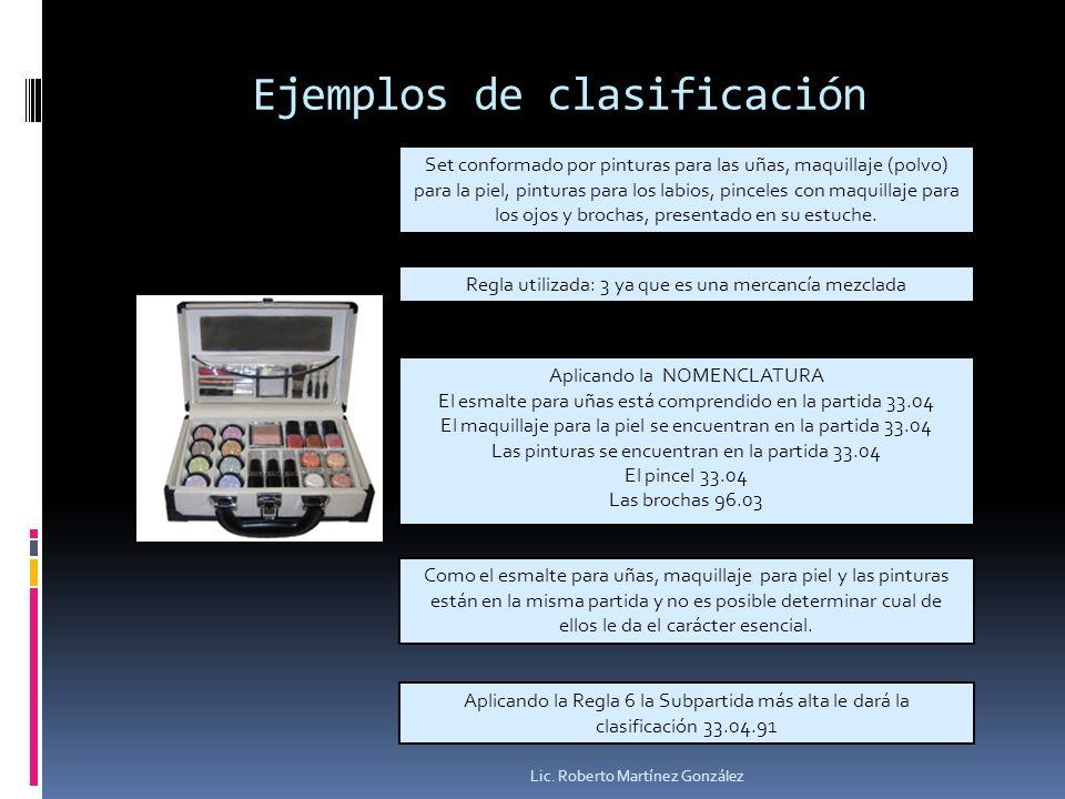 Ejemplos de clasificación