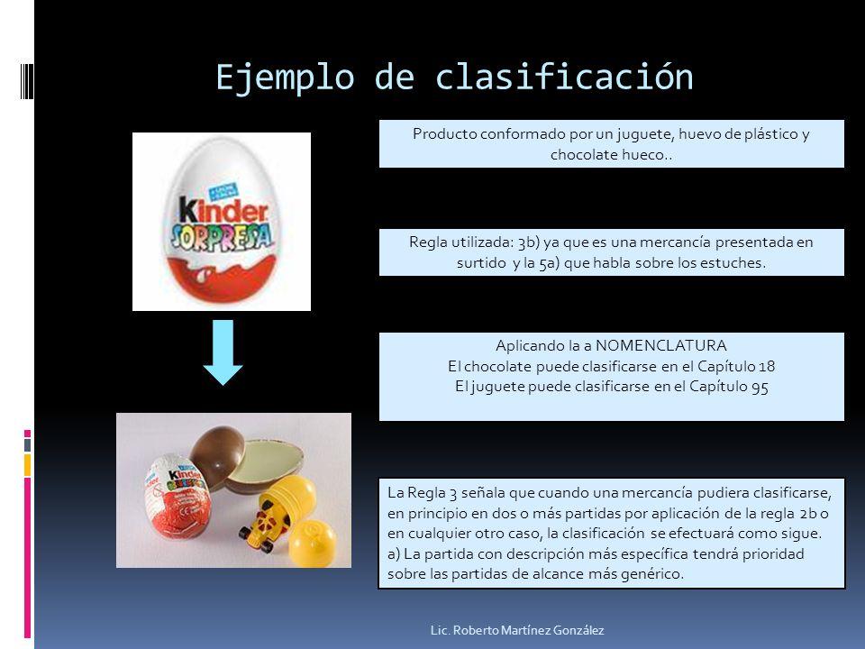 Ejemplo de clasificación