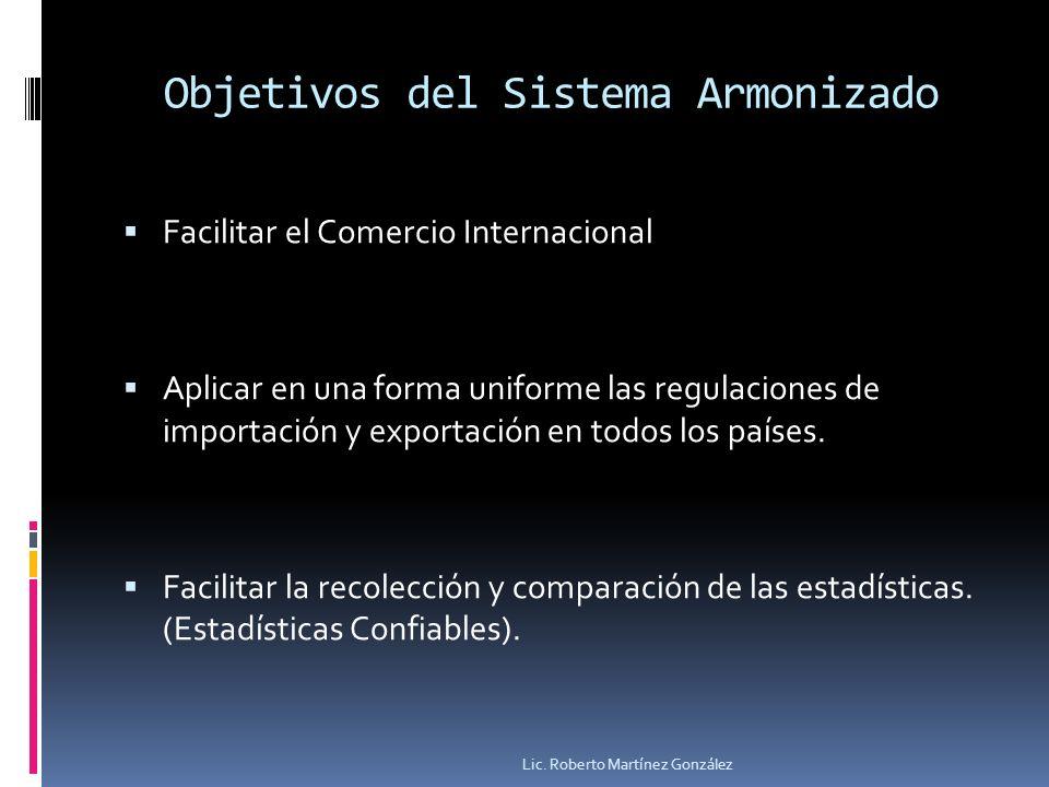 Objetivos del Sistema Armonizado