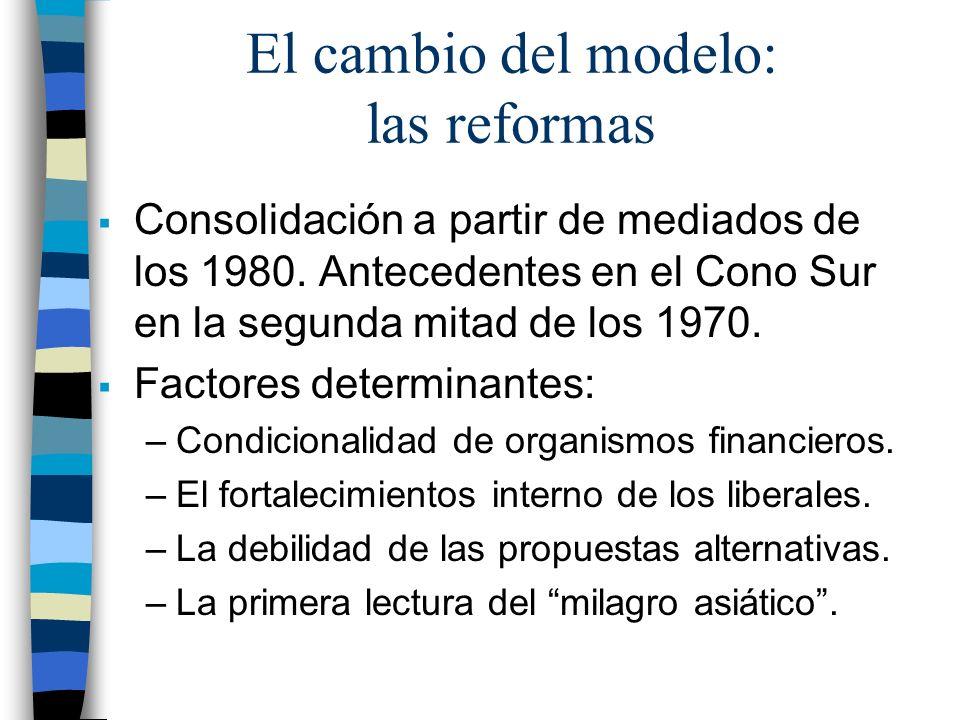 El cambio del modelo: las reformas