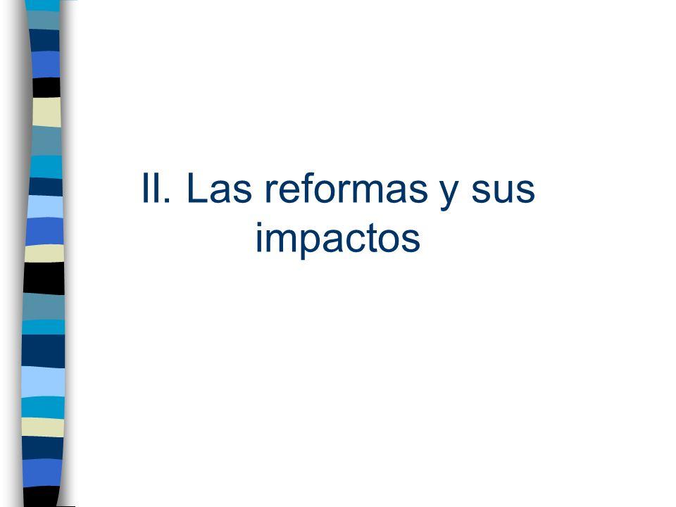 II. Las reformas y sus impactos