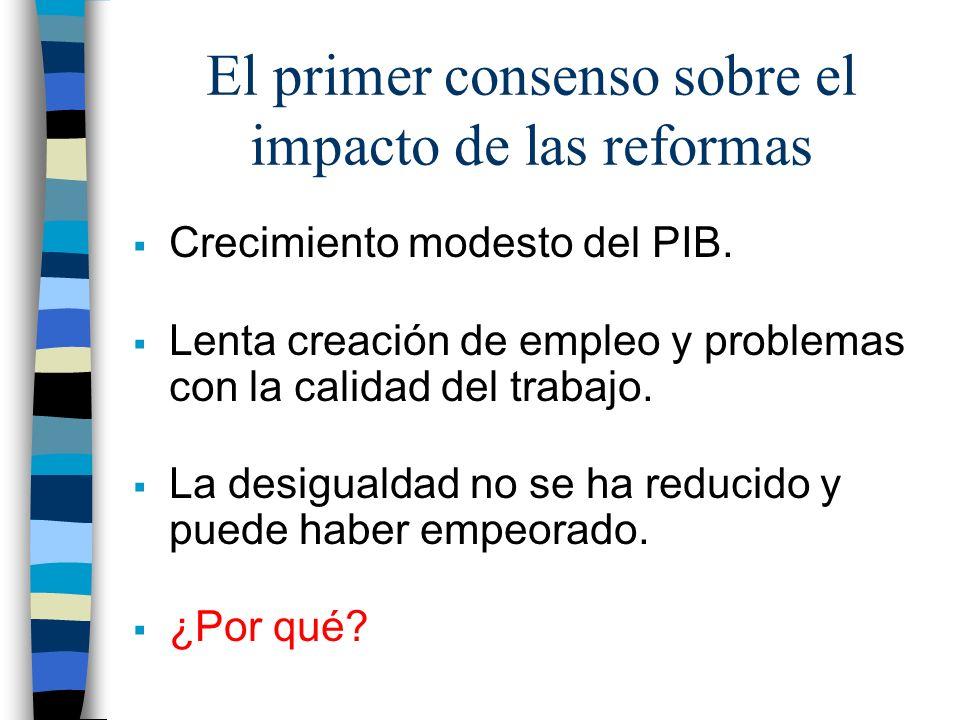 El primer consenso sobre el impacto de las reformas