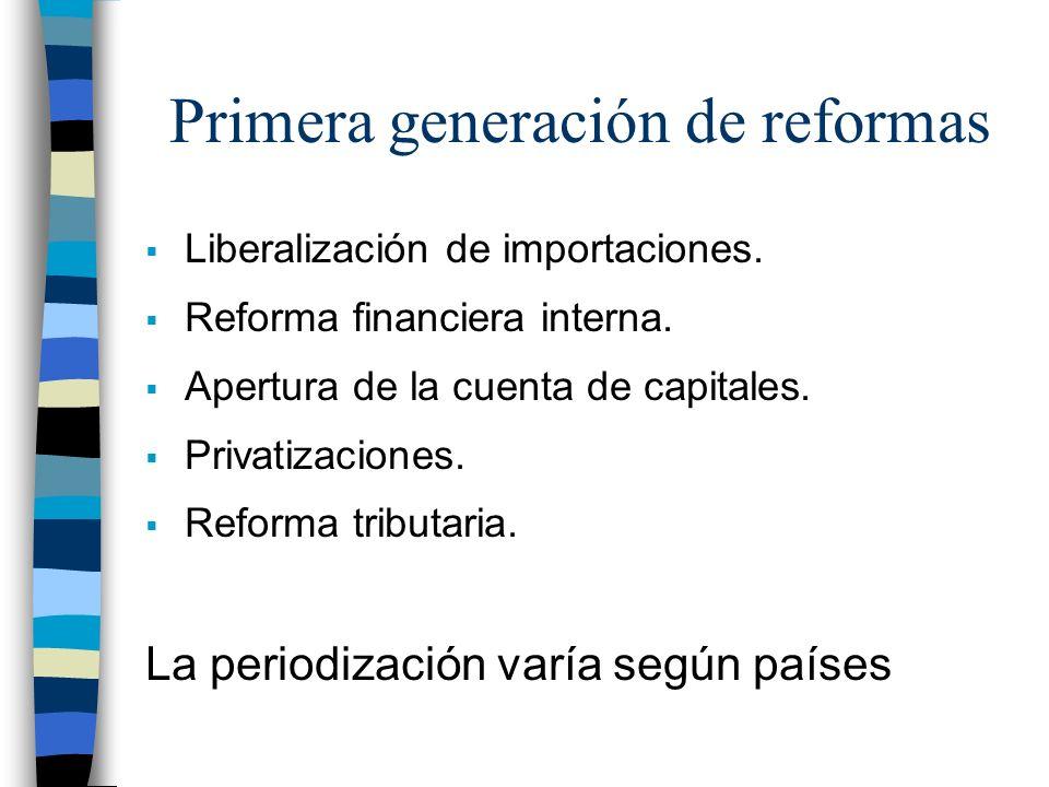 Primera generación de reformas