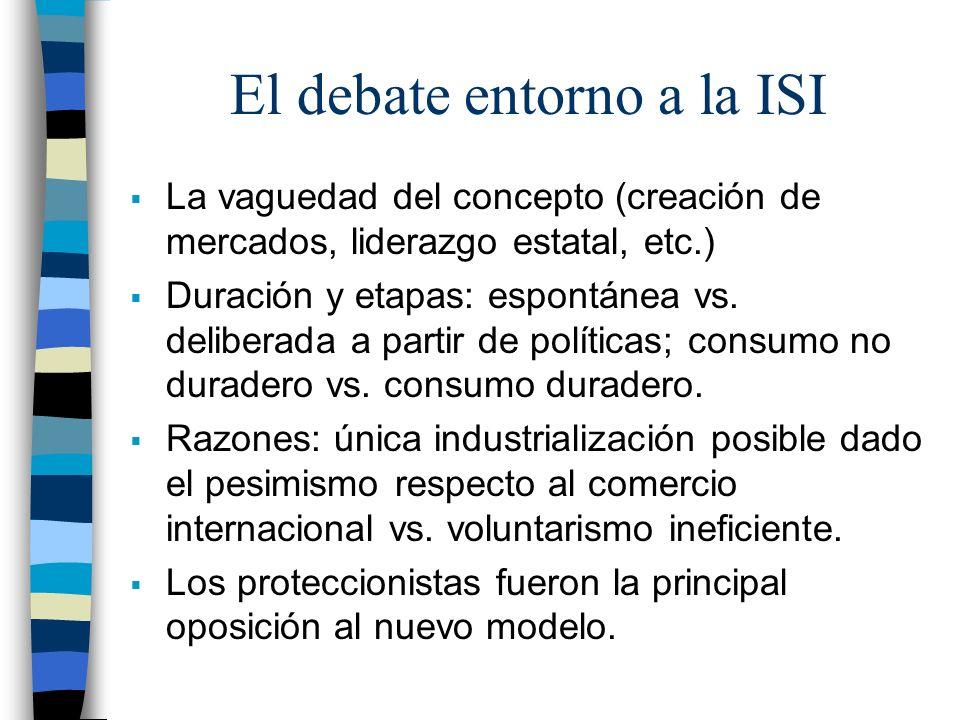 El debate entorno a la ISI