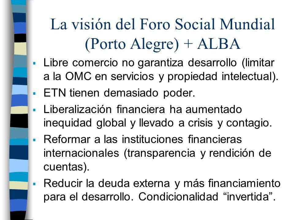 La visión del Foro Social Mundial (Porto Alegre) + ALBA