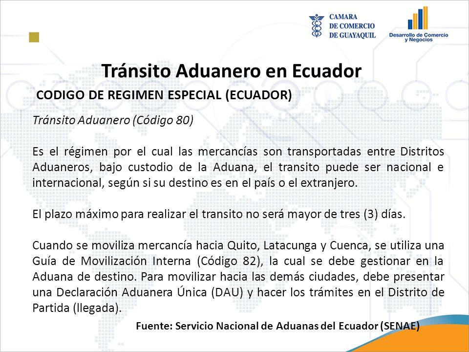Tránsito Aduanero en Ecuador