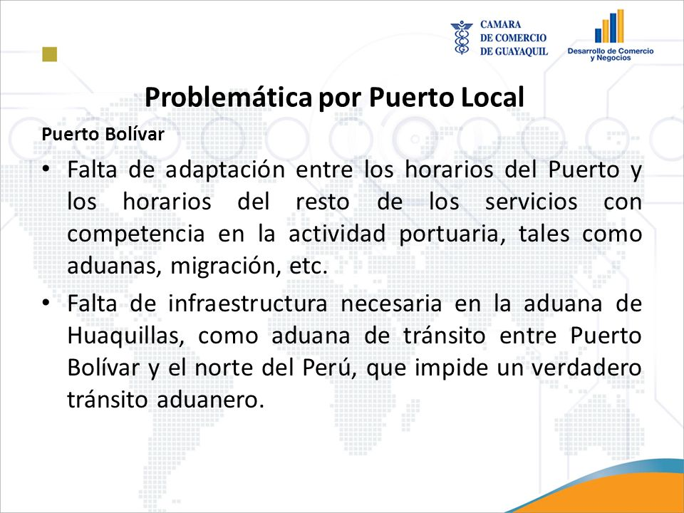 Problemática por Puerto Local