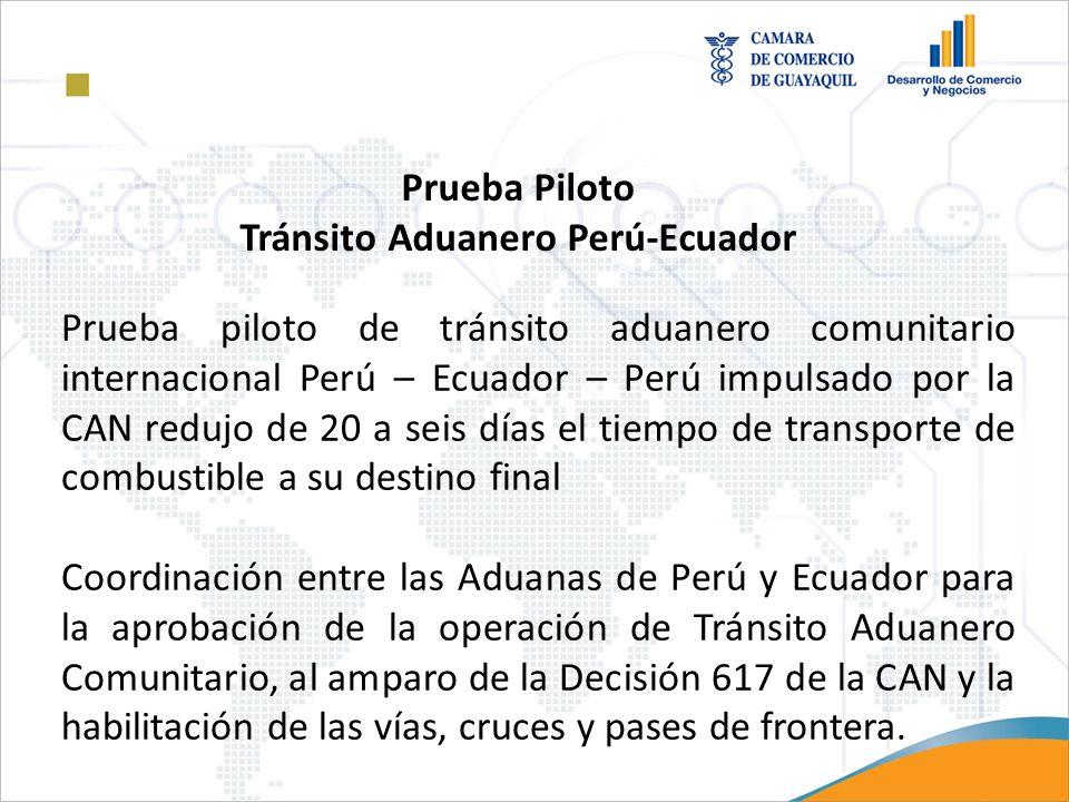 Tránsito Aduanero Perú-Ecuador