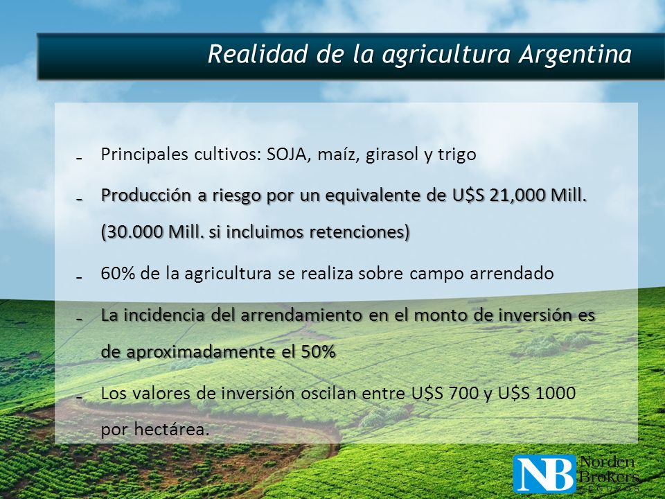 Realidad de la agricultura Argentina