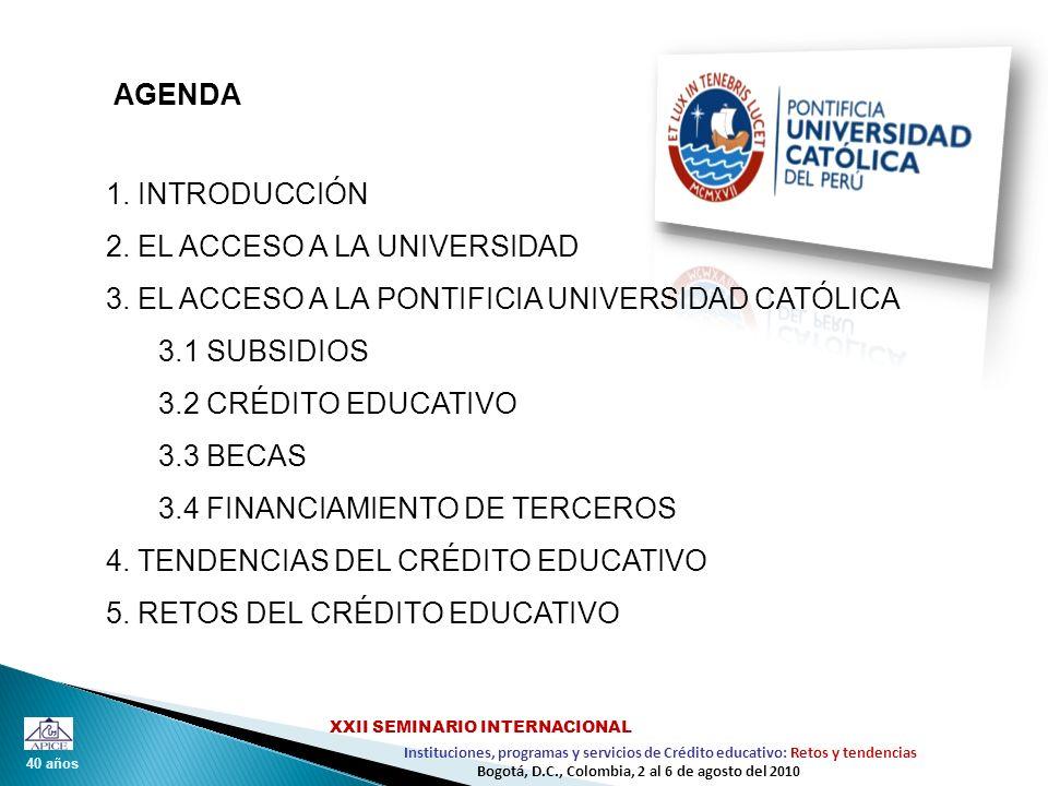 2. EL ACCESO A LA UNIVERSIDAD