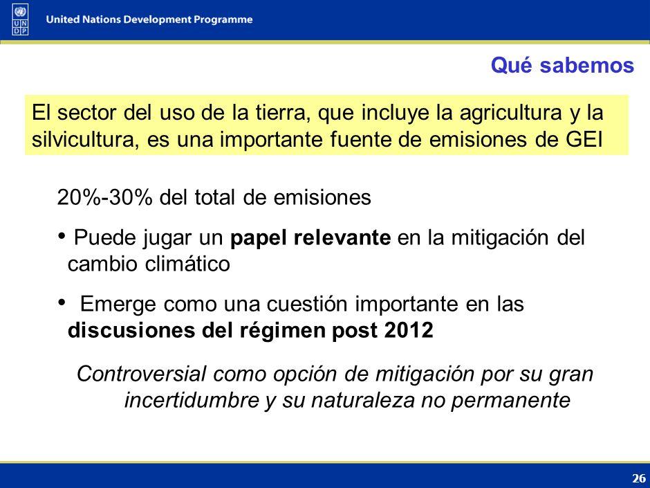 El papel del los bosques en la CMNUCC