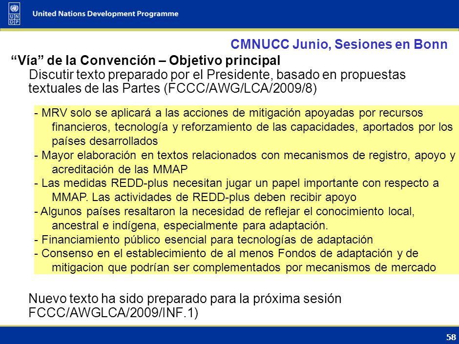 CMNUCC Junio, Sesiones en Bonn