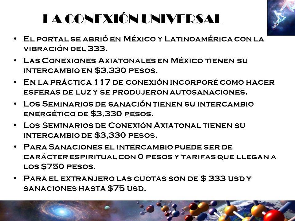 LA CONEXIÓN UNIVERSAL El portal se abrió en México y Latinoamérica con la vibración del 333.