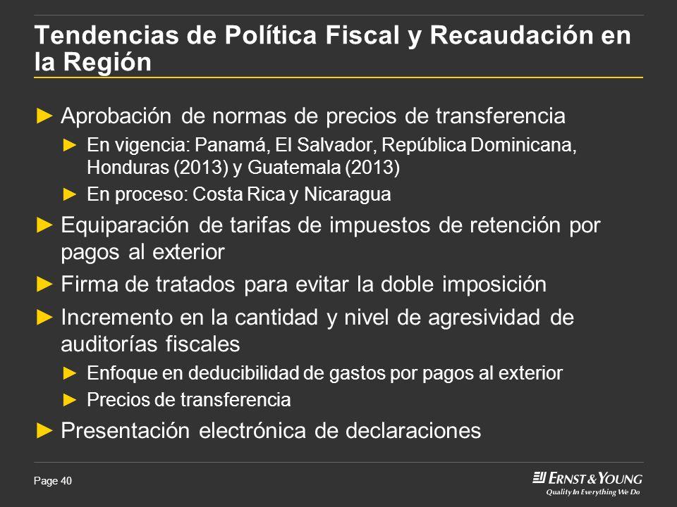 Tendencias de Política Fiscal y Recaudación en la Región