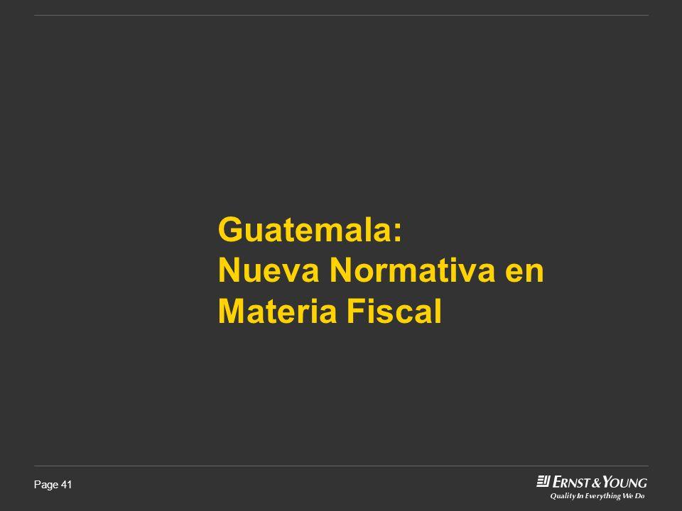 Nueva Normativa en Materia Fiscal