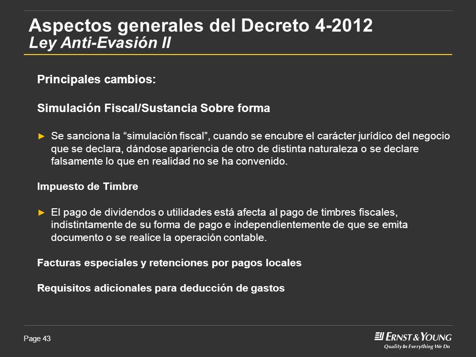 Aspectos generales del Decreto 4-2012 Ley Anti-Evasión II