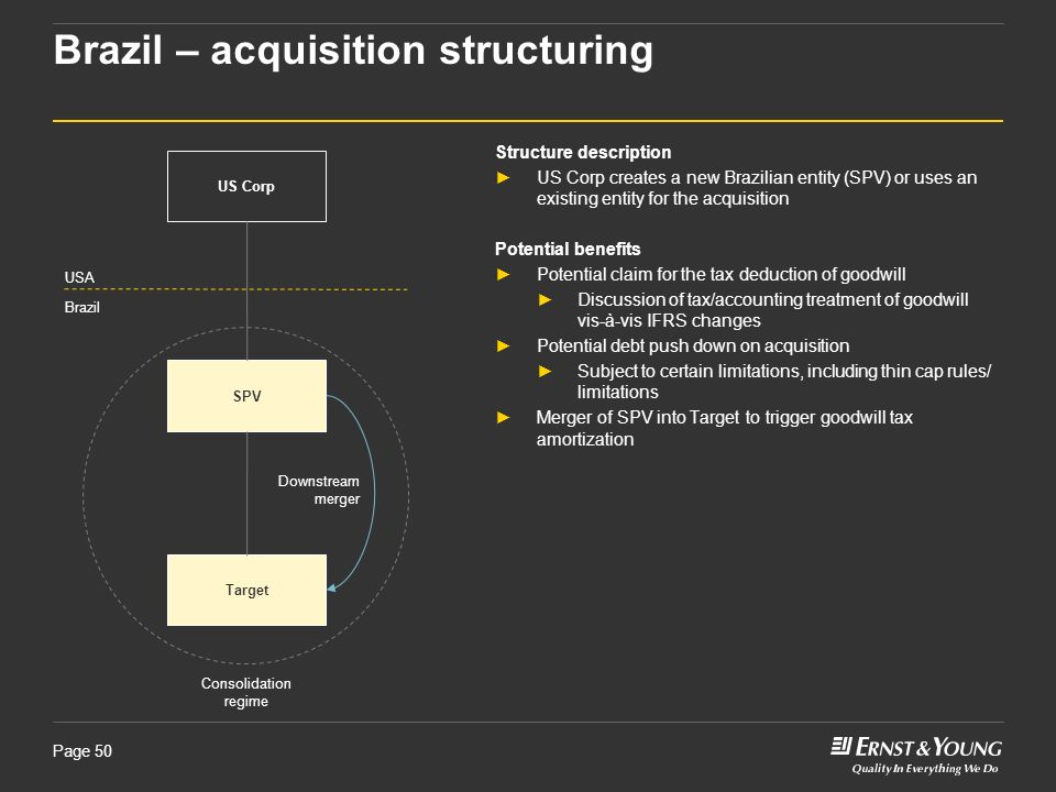 Brazil – acquisition structuring