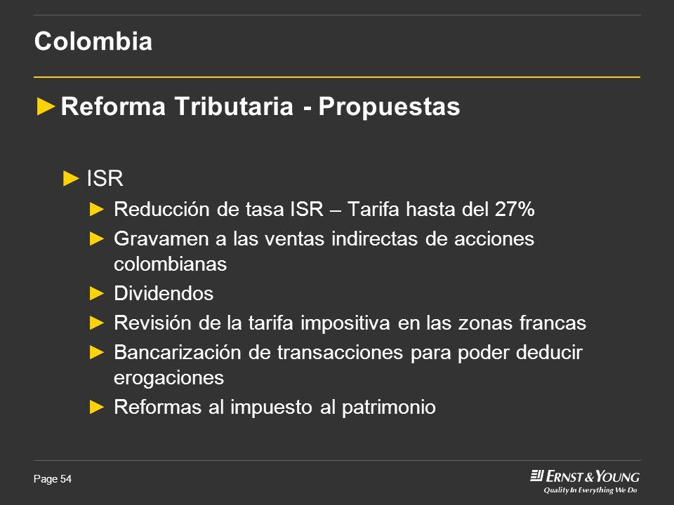 Reforma Tributaria - Propuestas