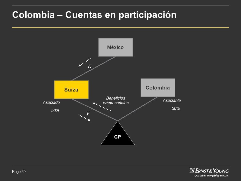 Colombia – Cuentas en participación