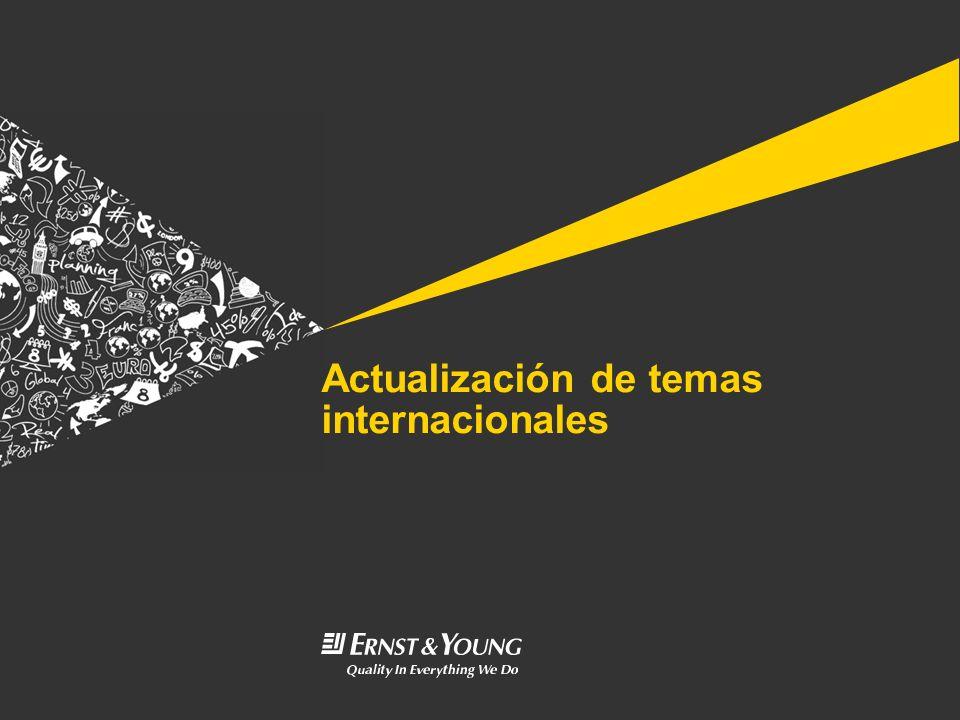 Actualización de temas internacionales