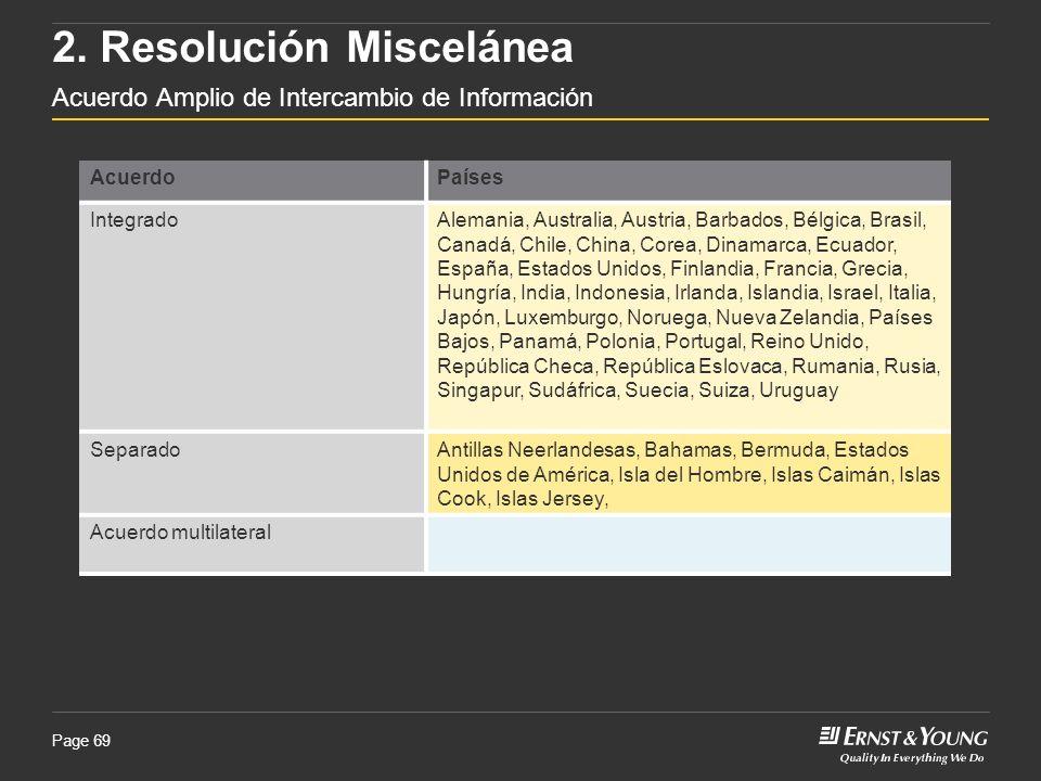 2. Resolución Miscelánea Acuerdo Amplio de Intercambio de Información