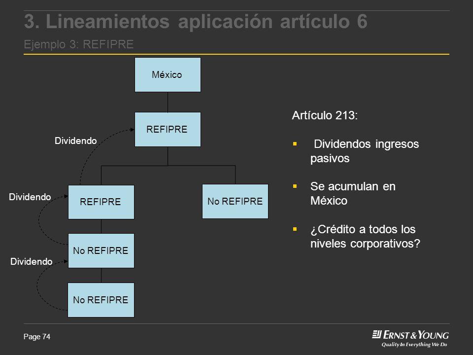 3. Lineamientos aplicación artículo 6 Ejemplo 3: REFIPRE
