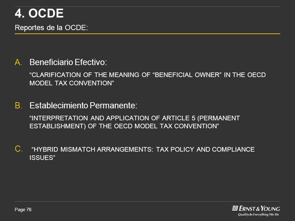 4. OCDE Reportes de la OCDE:
