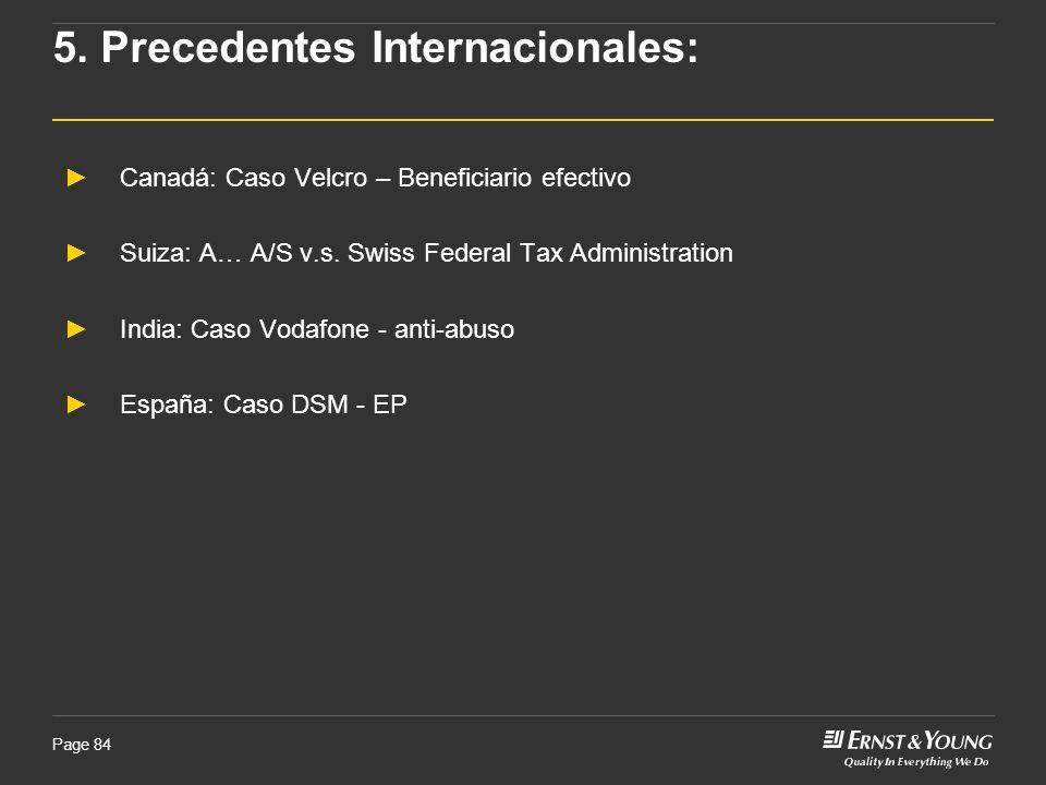 5. Precedentes Internacionales: