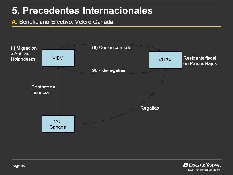 5. Precedentes Internacionales A. Beneficiario Efectivo: Velcro Canadá