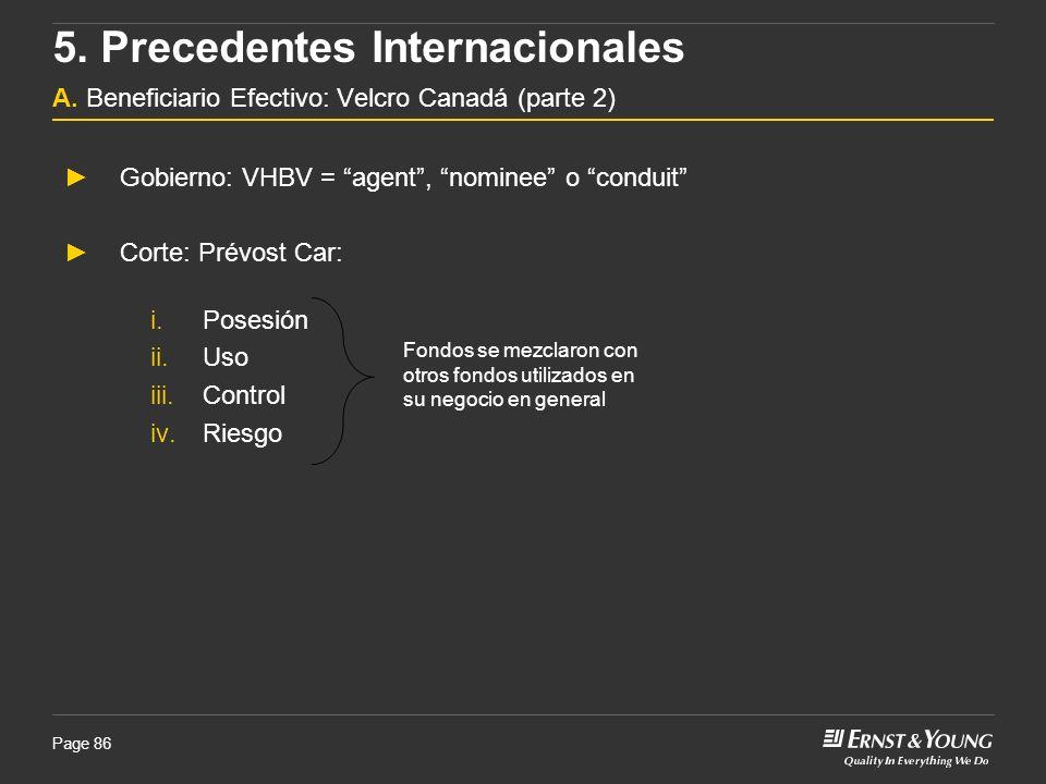 5. Precedentes Internacionales A