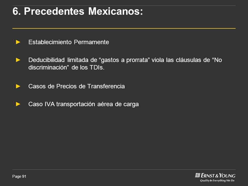 6. Precedentes Mexicanos: