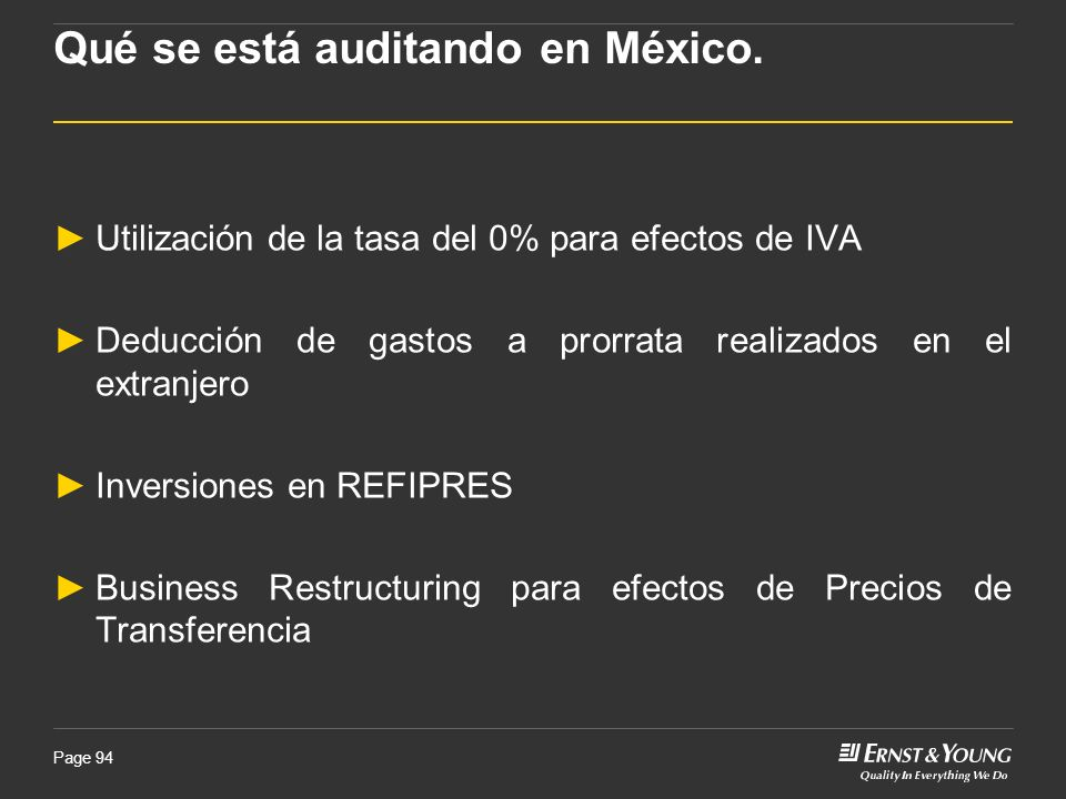 Qué se está auditando en México.