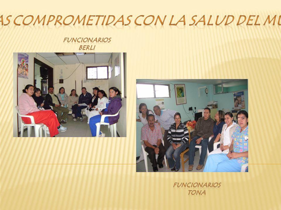 PERSONAS COMPROMETIDAS CON LA SALUD DEL MUNICIPIO