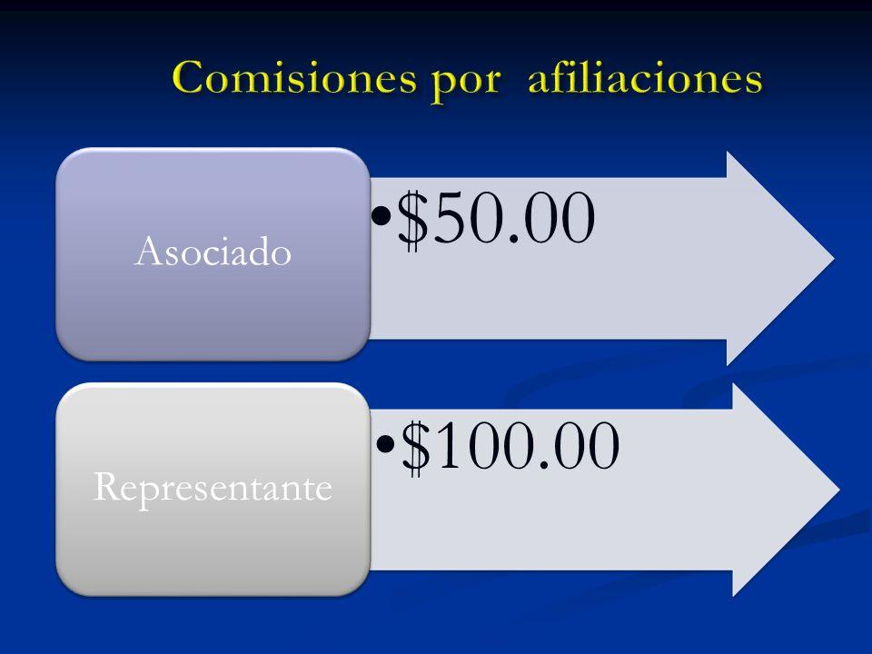 Comisiones por afiliaciones
