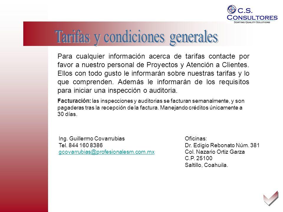 Tarifas y condiciones generales