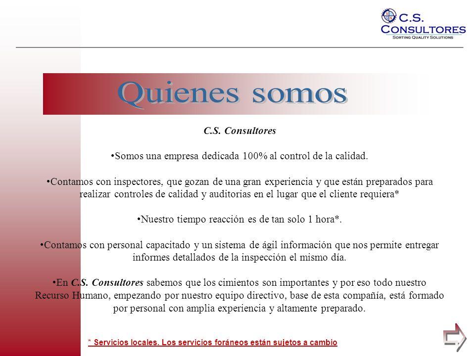 Quienes somos a pagina C.S. Consultores