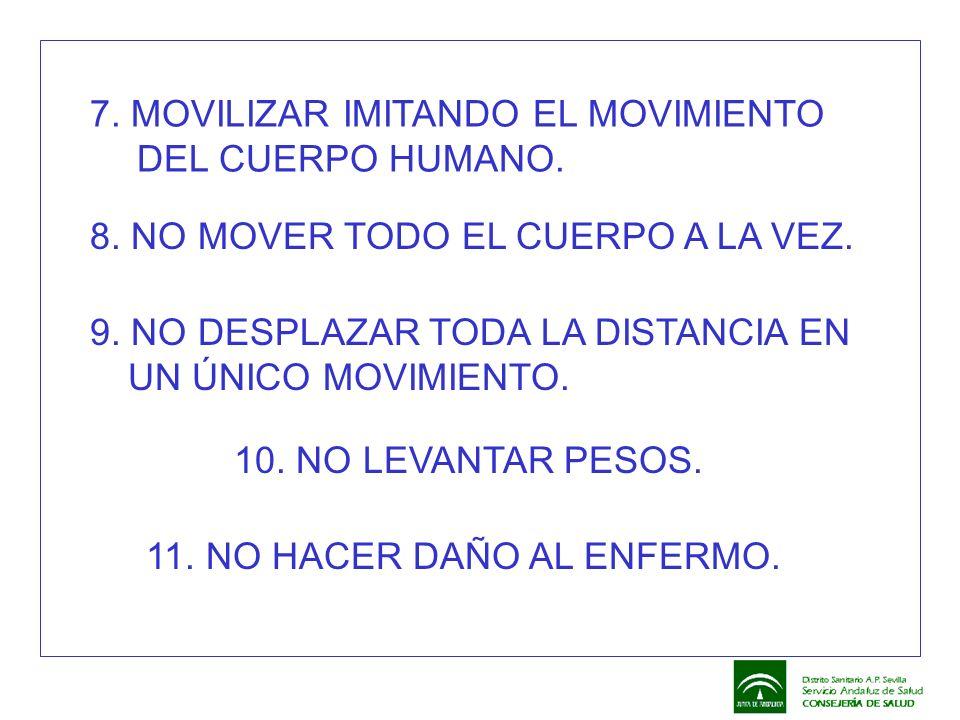 7. MOVILIZAR IMITANDO EL MOVIMIENTO DEL CUERPO HUMANO.