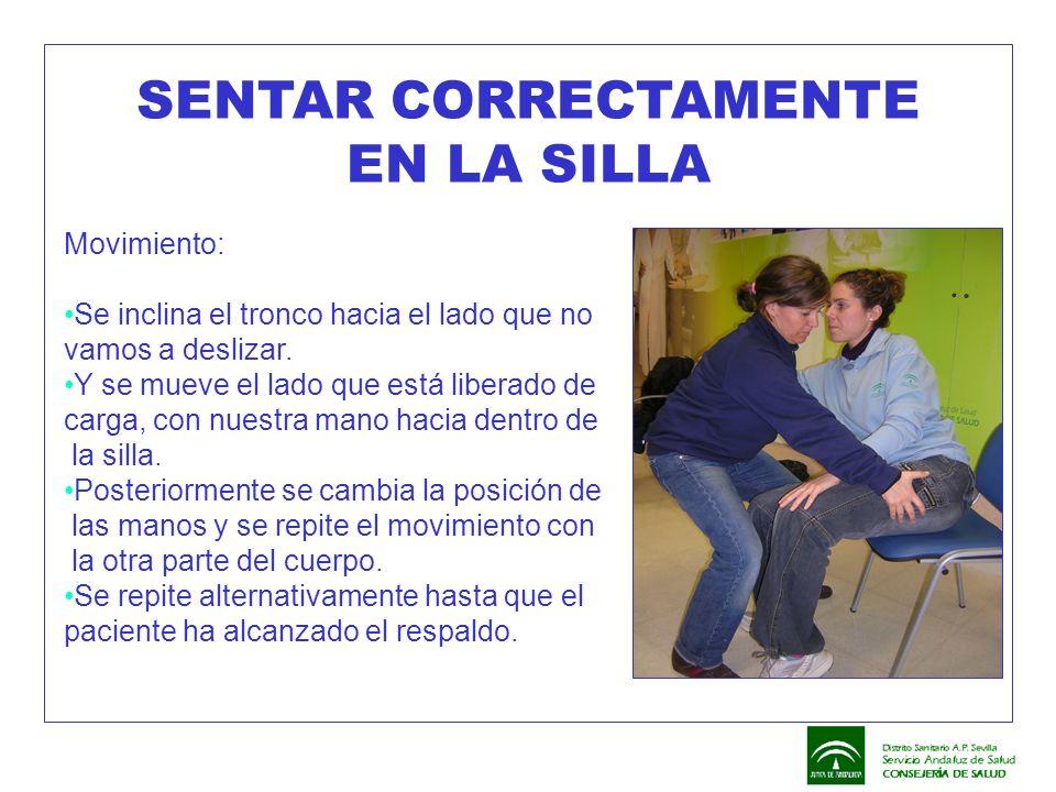 SENTAR CORRECTAMENTE EN LA SILLA