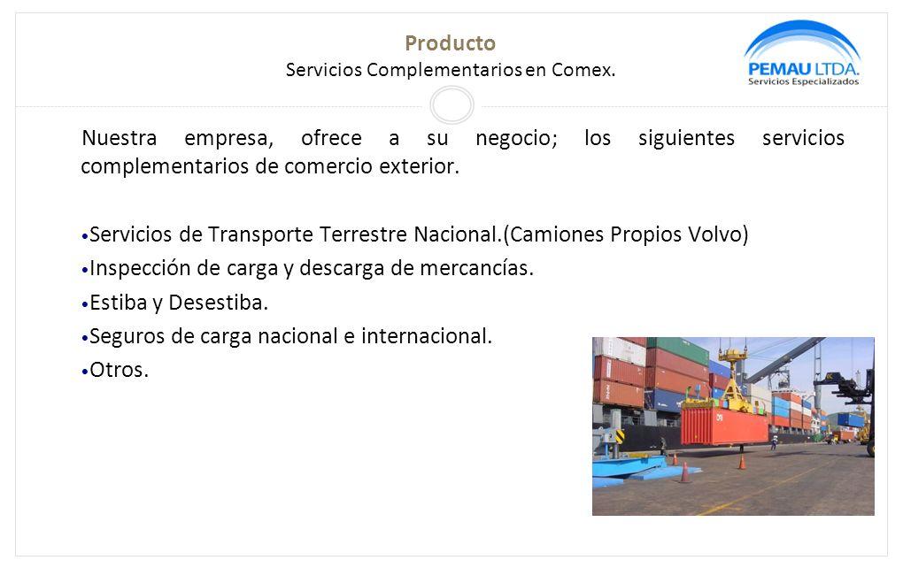 Producto Servicios Complementarios en Comex.