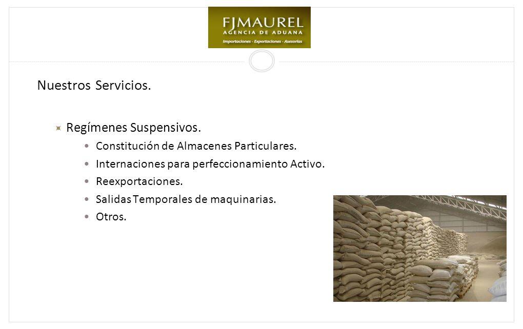 Nuestros Servicios. Regímenes Suspensivos.